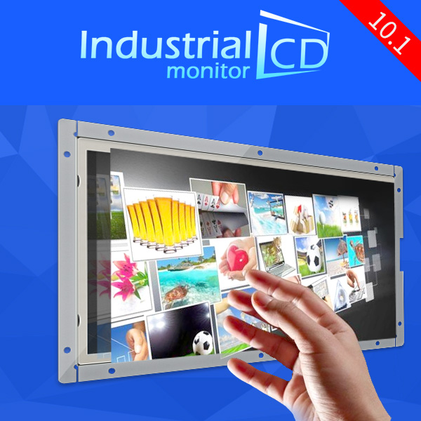Industrial 10.1 Inch IPS Touch Screen Ultra Thin 1280*800 Car Video Monitor Display 10.1 inch resistive touch screen LCD monitor(China (Mainland))
