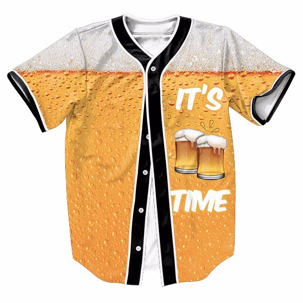 2019 Wholesale Its Beer Time Jersey Summer Style With Buttons 3d Hip Hop  Streetwear Men S Shirts Tops Shirt Casual Tees From Splendid99 41bd315ff