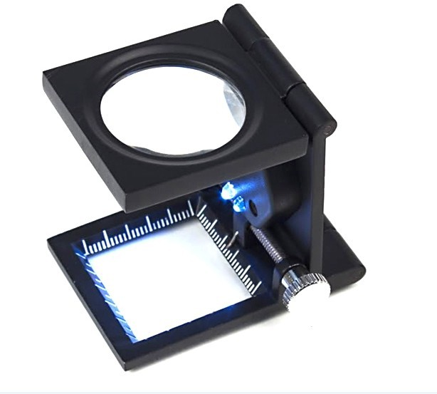 three folding magnifier magnifying glass stand repair with led light. Black Bedroom Furniture Sets. Home Design Ideas