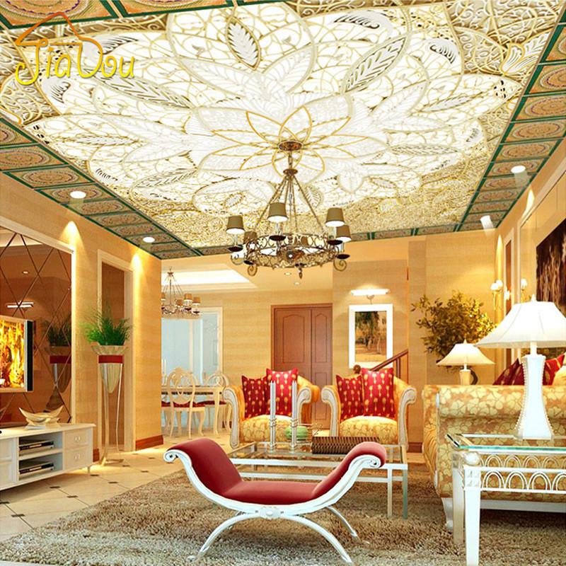 Papier peint au plafond promotion achetez des papier peint for Fond plafond salon
