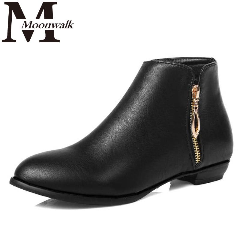 2015 autumn spring women motorcycle martin boots fashion ankle leather boots flat heel shoes woman boots plush size 34-45 J4180