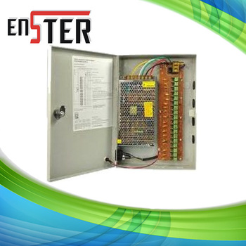 18 CH 12V DC 10A POWER SUPPLY BOX AUTO-RESET for CCTV CAMERA ,CCTV camera power supply  BOX
