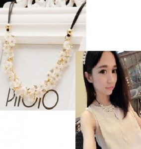 Korean version of the big fashion fresh daisy flower Duo Pisheng simple necklace clavicle short-chain women jewelry(China (Mainland))