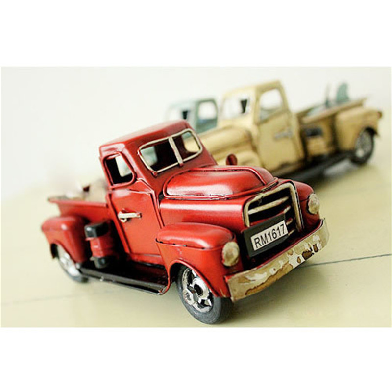 Nostalgia Iron Car Craft Childhood Toy Gift Antique Pickup Truck Model Decoration Lover Boy Girl Birthday Gifts(China (Mainland))
