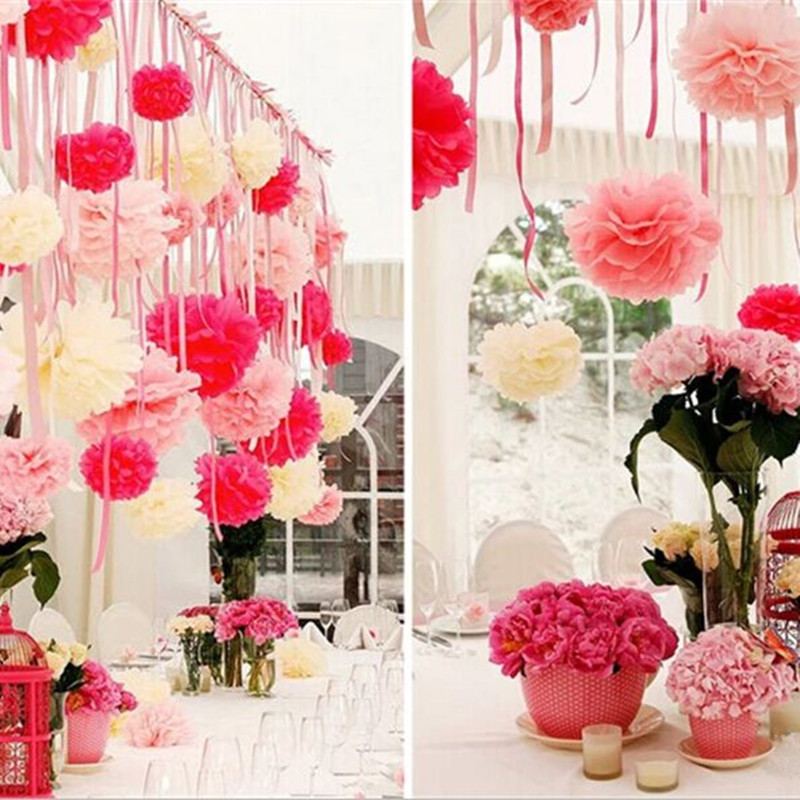 10cm paper peony flower ball wedding supplies paper garlands wedding marriage room decorated birthday party(China (Mainland))