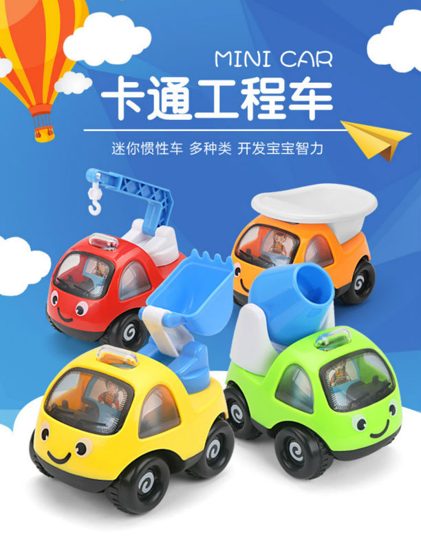 Mini Cars Cartoon Pull Back Bus Truck Kids Toys Children Racing Car For Baby Children Gifts(China (Mainland))