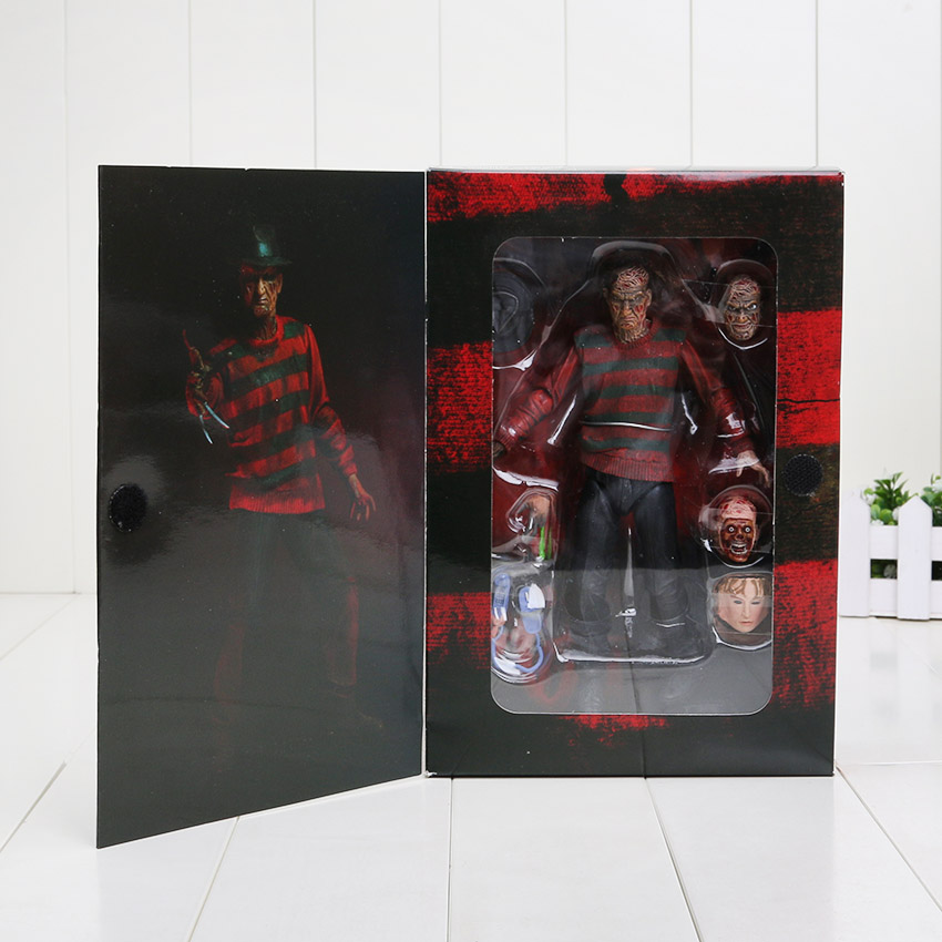 """7"""" 17CM NECA A Nightmare on Elm Street Freddy Krueger 30th PVC Action Figure Collectible Toy(China (Mainland))"""