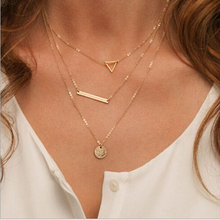 Western Fashion Charm Brand Gold silver Multilayer Choker Necklace Bar Collar Bid Necklace Metal Chain Women