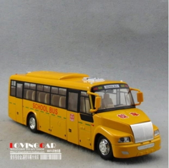 1:32 eXtra Large Real voice SCHOOL BUS alloy car models back force open door(China (Mainland))