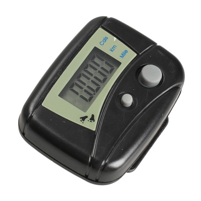 New 2015 LCD Run Step Pedometer Walking Distance Calorie Counter Passometer Black high quality(China (Mainland))