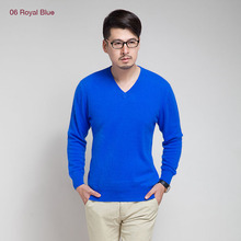 New Brand 2015 Autumn Winter Men's V-Neck 100% Mink Cashmere Sweater Pullover For man  christmas blusas masculina men jumper(China (Mainland))