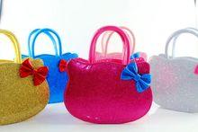 Kids Girl Cute KT Handbag Children Girls Bling Bling Shoulder Bag Girls Fashion Bags with Bowknot Drop Free Shipping Wholesale(China (Mainland))