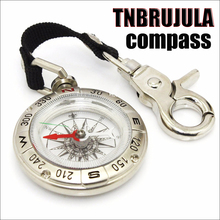 Buy Portable multifunction pocket compass keychain compass minicompass outdoor climbing camping compass for $18.91 in AliExpress store