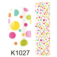 Fashion Beauty Nail Stickers Colorful Dot Nail Design Full Cover Stickers on Nail Art Tools Manicure Nail Decals K1027