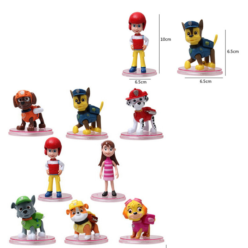 2015 New Hot Children toys patrulla canina toys Months Pop Action Figure Anime Puppy Patrol Dog Toy For Boy Girl Juguetes(China (Mainland))