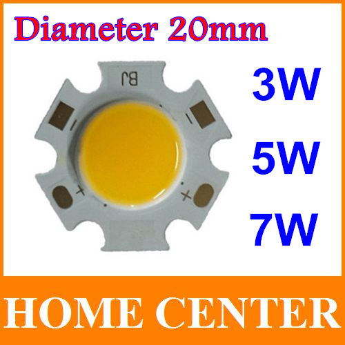 3W 5W 7W  led cob chip 240-630lm Side 20MM Chip On Board with tracking number<br><br>Aliexpress