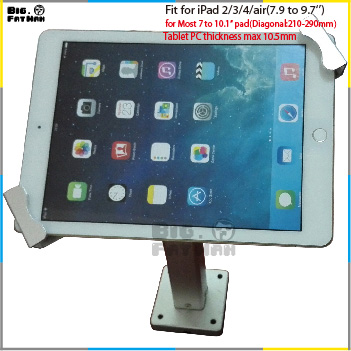 Universal wall mount tablet wall mount security anti-theft adjusted bracket 7 to 10.1 inch for Toshiba HUAWEI holder stand(China (Mainland))