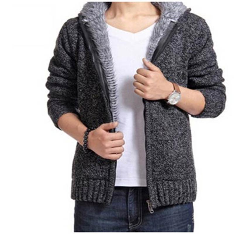 Men Sweater Coat - New Arrival Casual Knit Cardigan Sweater Men 's Sweater Plus Thick Sweater #1570398(China (Mainland))