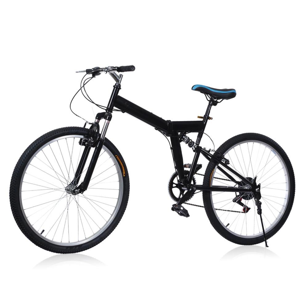 Brand New 26 inch 6 Folding Speed Mountain Bike Sport Cycling Disc Brakes Bicycle Aluminum Alloy 6 Gears Folding MTB Road Bike(China (Mainland))