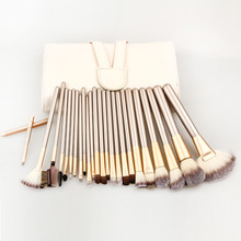 Professional Soft 1Set/lot 24pcs Makeup  Brushes Set Cosmetic Make Up Tools Set with Leather Case, Free Shipping