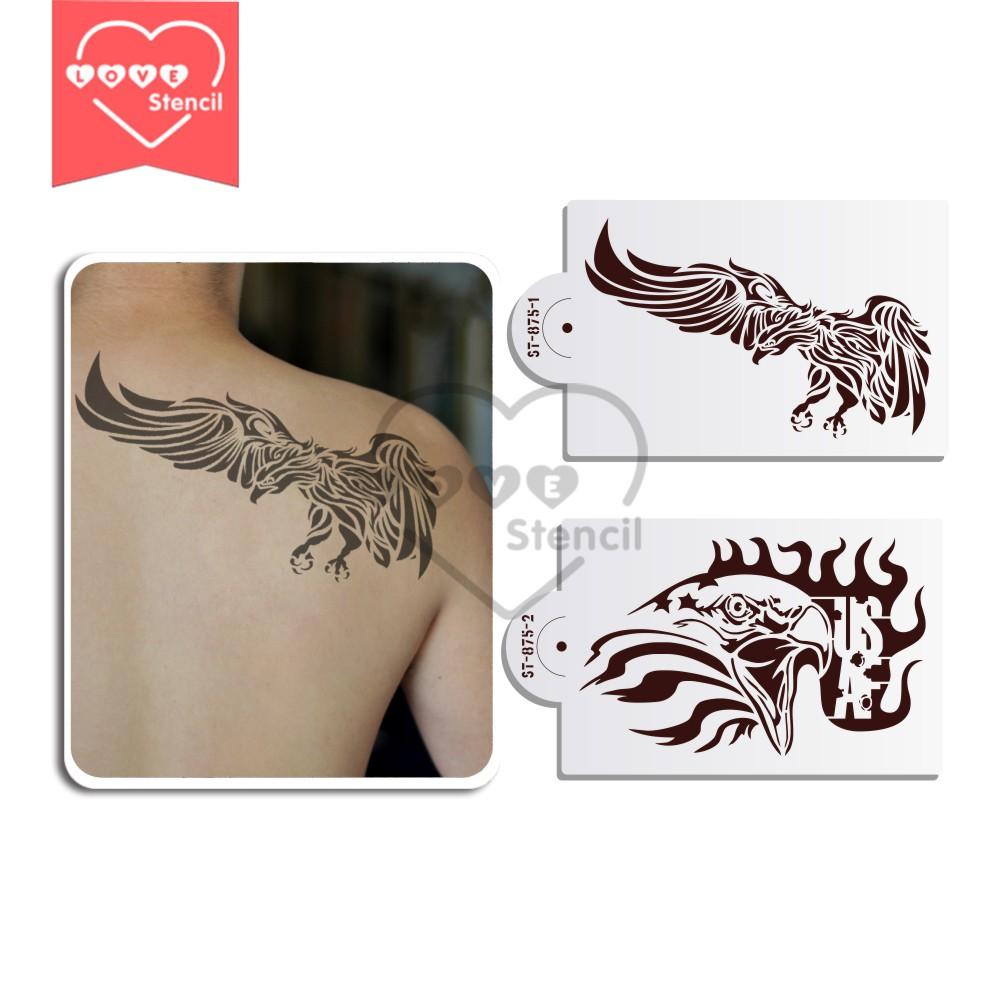 Eagle stencils reviews online shopping eagle stencils for Spray on tattoo stencils