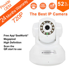 Free Shipping IP Camera HD 720P Mega pixel TF Card Storage Phone View Free Iphone Android App  KaiCong Sip1201R Oem Support