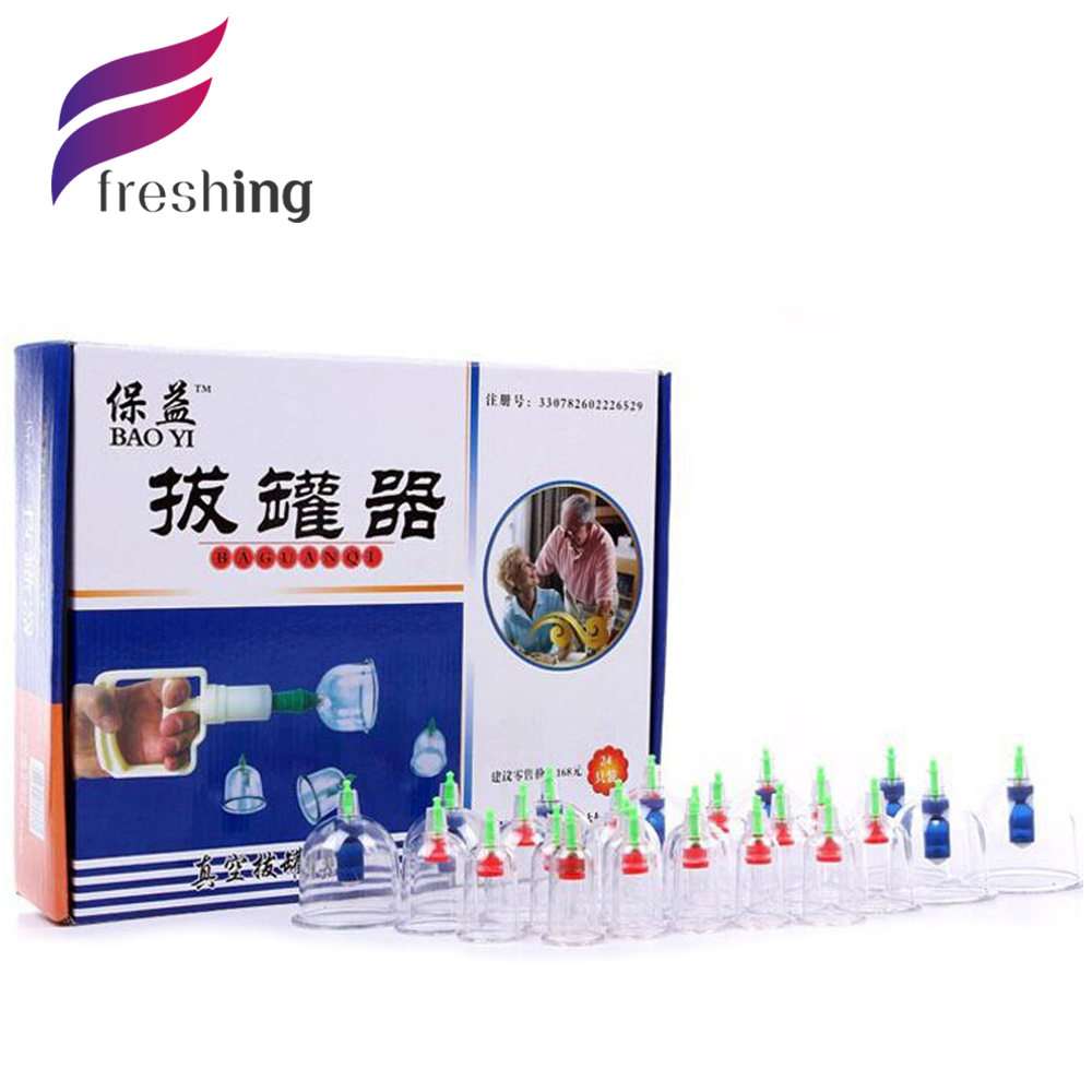 Chinese Great Medical Body Healthy Care 24Cups Kit Cupping Therapy Cups Wholesale Thick Cupping Massage Cellulite Cups(China (Mainland))