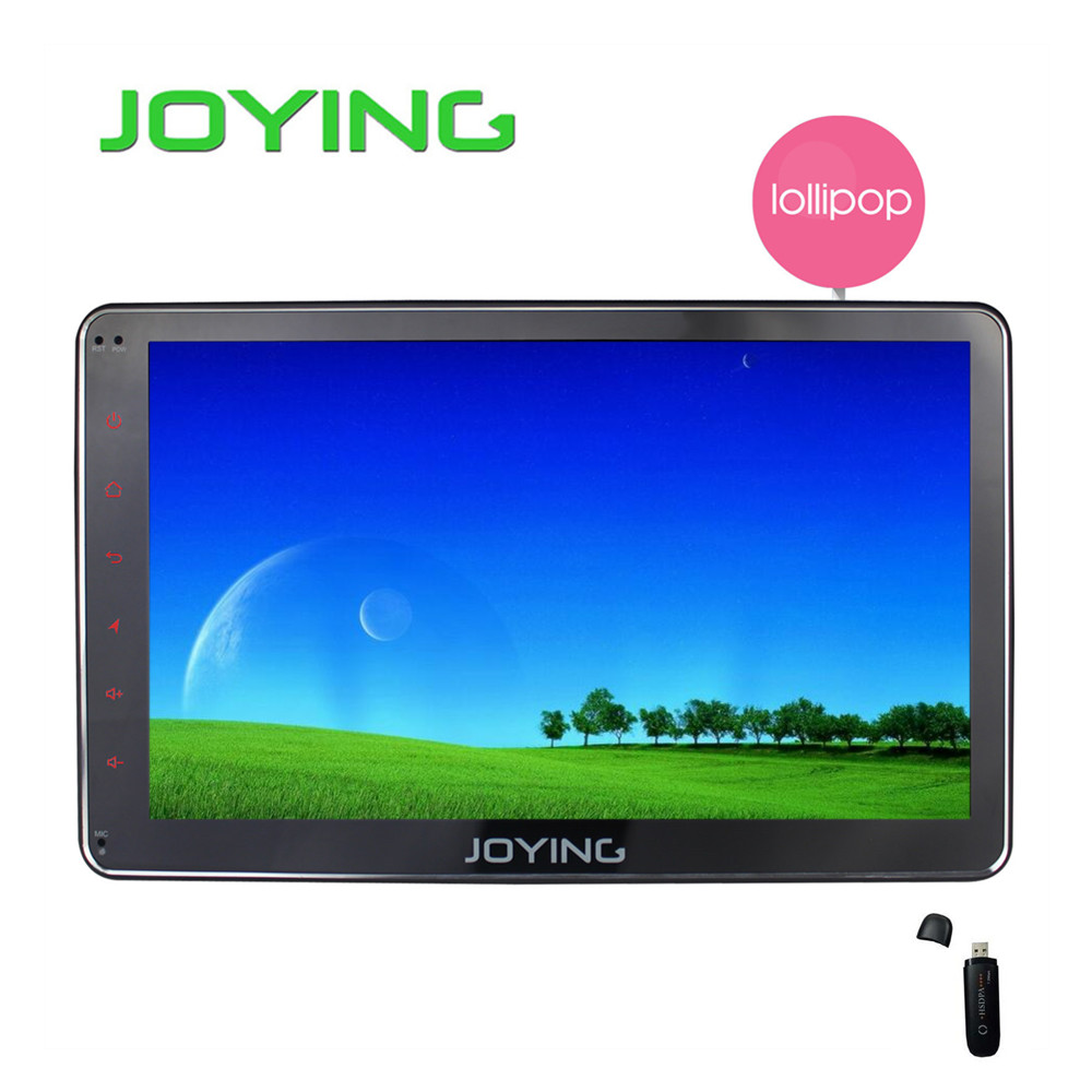 "Joying 10.1"" Universal Car Radio Stereo1024*600 GPS Navigation Android 5.1.1 Lollipop Quad Core Double 2 Din Head Unit+3G dongle(China (Mainland))"