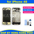 Chassis New Full Parts for iPhone 4S Middle Frame Bezel Midframe Housing Assembly Replacement Parts + Repair Tool Kit