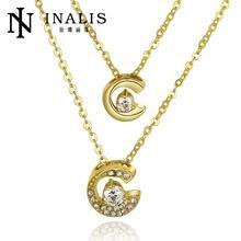 N805-a Wholesale antialérgica libre 18 K oro verdadero plateado collar colgantes joyas de moda collares mujer