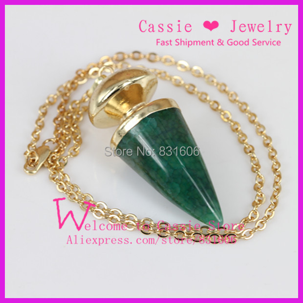 5PCS Natural Green Crystal Druzy Gem Gold Plated Jewelry Raw Agate Line Drusy Bullet Stone Charm Pendant Necklace For Women(China (Mainland))