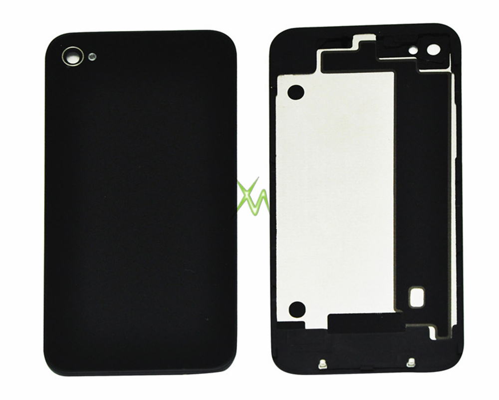 10 PCS OEM Battery Cover For iPhone 4GS 4S Back Cover Door Rear Panel Plate Glass Housing Replacement Black Color,Free Shipping(China (Mainland))
