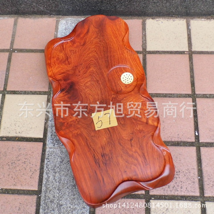 Wholesale Vietnam mahogany wood tea tray Myanmar rosewood coffee table tea table wood piece tea machine