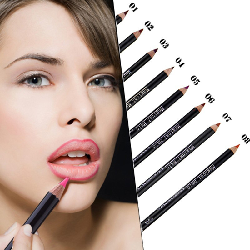2016 Magical Halo 19 Colors Sexy Beauty Waterproof Lip Pencil Lip Gloss Lip Pen Brand Makeup Natural Lip Liner Pencil ColorStay<br><br>Aliexpress