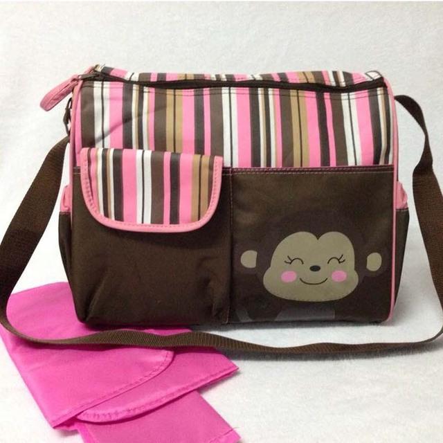 Мультфильм пеленки младенца организатор подгузник сумки мода холст родные сумки для ...
