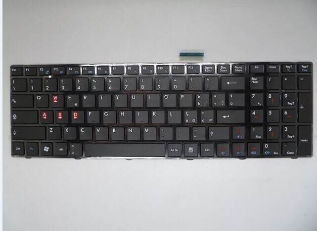 QWERTY Hot sale laptop computer keyboard for MSI CR620 CR720 GT660 A6200 UK-IT Italy Layout(China (Mainland))