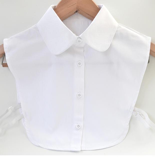 New fashion women false collar white shirt collar 100 for White cotton shirt peter pan collar