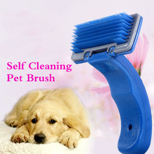 Self Cleaning Pet Brush Pet dog grooming combs Clipper gilling Dog Cat Trimmer Soft Pin or short hair medium hair long hair dog