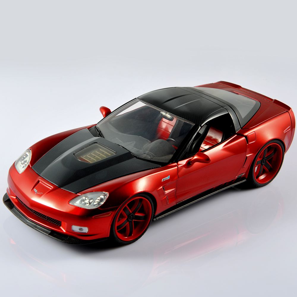 Jada 1:18 Diecast Alloy Model Cars 2009 CORVETTE ZR1 Red Color Car Vehical Model Miniatura de carro Toy Kids Gift/Collections F(China (Mainland))