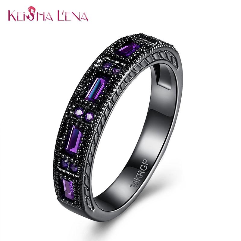 Vintage Hopeful Green Jewelry Keisha Lena Zircon Wedding Ring Men Women Anel Aneis Fashion Black color Engagement Rings(China (Mainland))