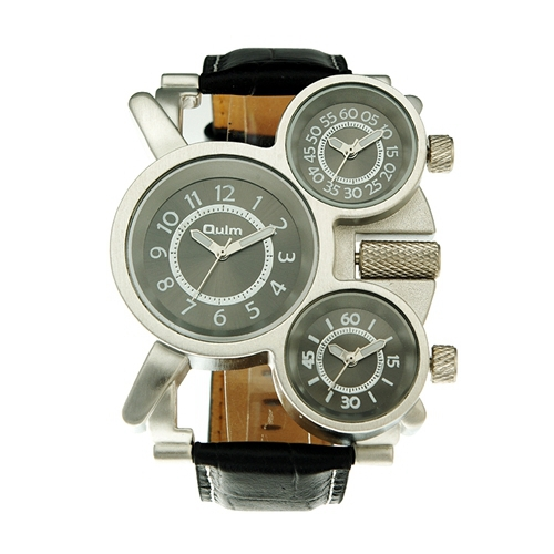 stylish oulm army watches leather sport