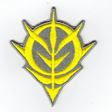 100%Embroidery Gundam Zeon Logo Military Tactical Morale Embroidery Patch Badges B2536