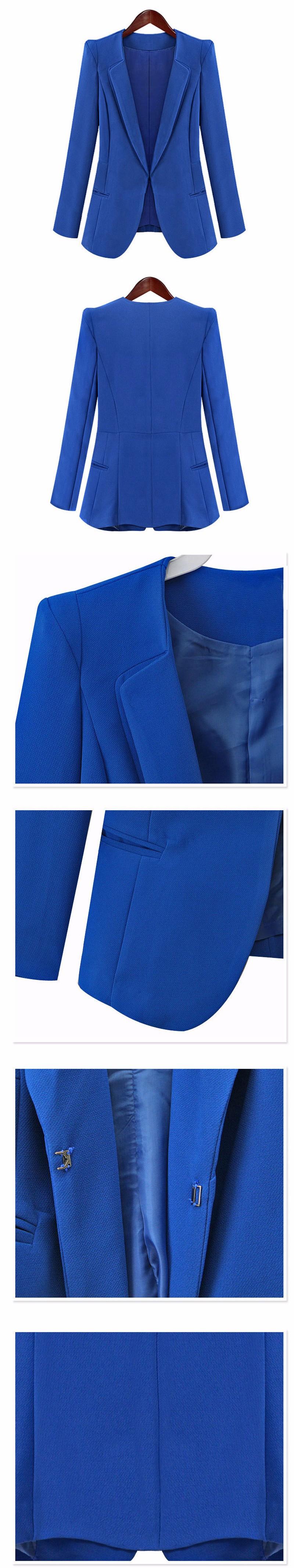 Autumn Women's Candy Color Outerwear Blaser Coat Lady' Korean Slim Jacket Girls Casual Single Button Suit Plus Size XXXXL 4XL