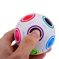 New Rainbow Ball Football Magic Speed Cube Puzzle Cubes spherical magic cube Educational Toy Special Toys