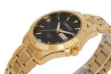 Nueva marca CHENXI hombres del reloj de oro llena de acero inoxidable relojes de cuarzo moda Artificial Rhinestone del diamante del reloj venta al por mayor
