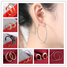 18 kinds Good/Silver Circle Earring Fashion Big Hoop Earrings For Women Celebrity Exaggerated Womens Big Hoop Circle Earrings (China (Mainland))