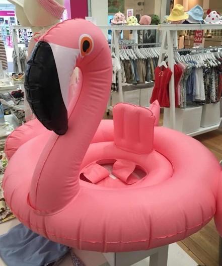 Hot selling inflatable baby swim ring pink dream flamingos swimming pool play(China (Mainland))