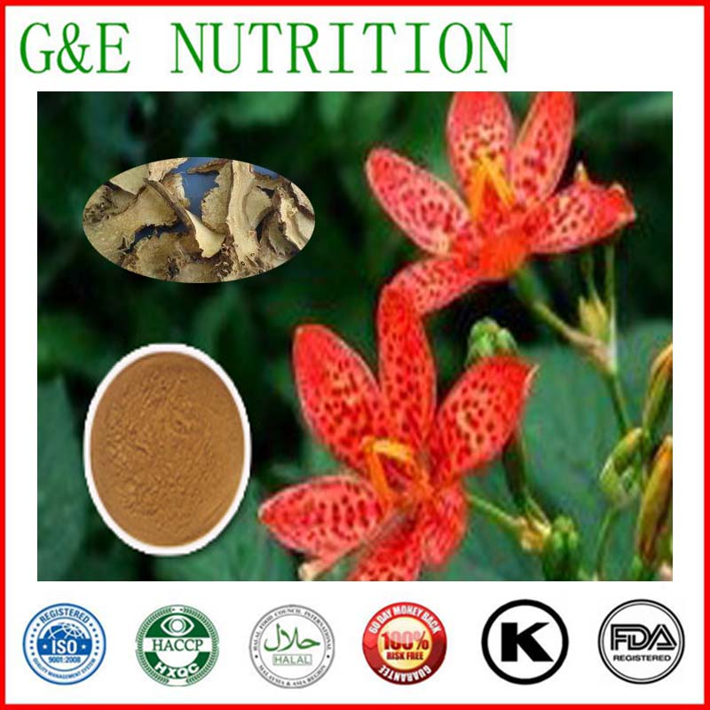High quality Blackberrglily Rhizome Extract P.E.10:1 500g<br><br>Aliexpress