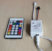 DC5V Free Shipping 1x 24 Key IR Remote Controller WS2811 2811 200 Change Max 1000 Pixel LED Controller DC5V 72W(China (Mainland))