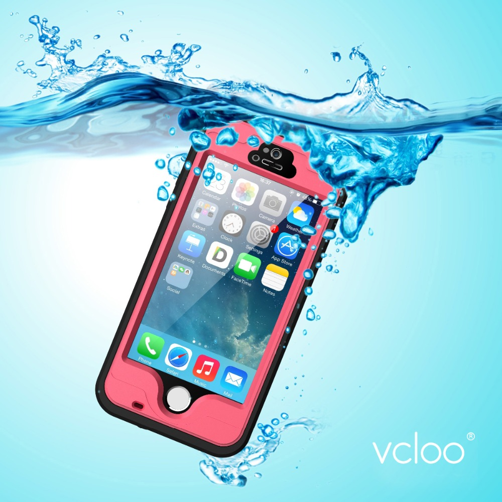 Vcloo Waterproof Case, Dust Proof, Snow Proof, Shock Proof Cover Case for iPhone 5S, iPhone 5 with Touched Screen Protector(China (Mainland))